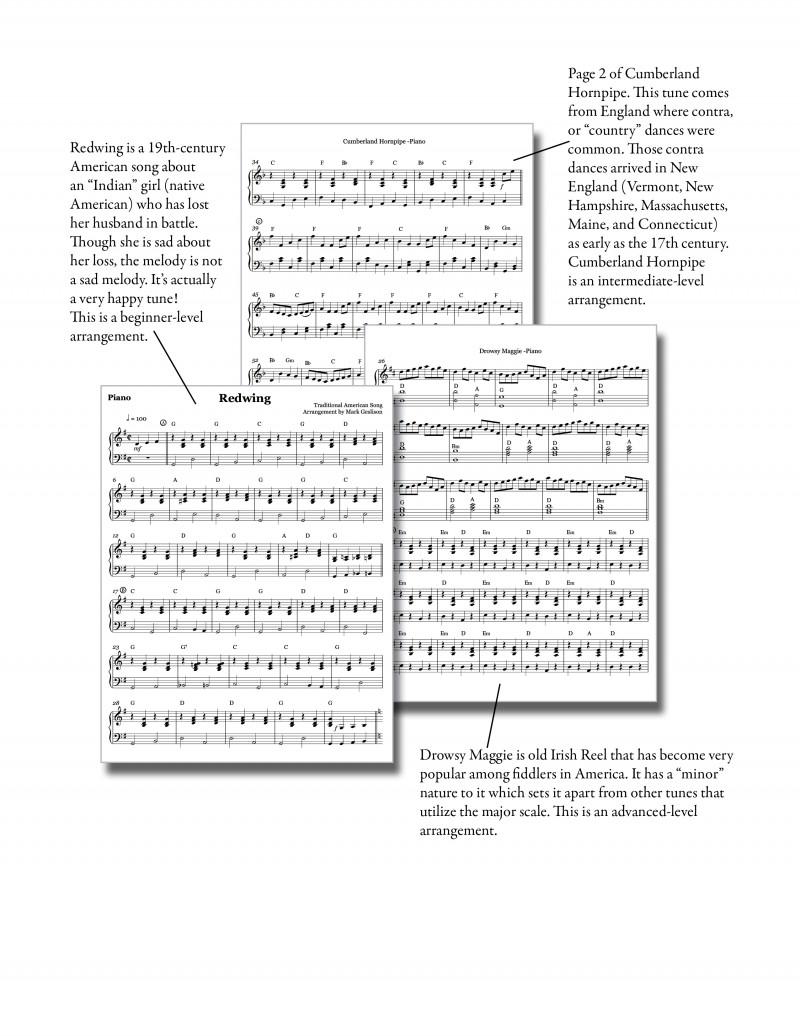 Fiddling Duets Piano Look Inside